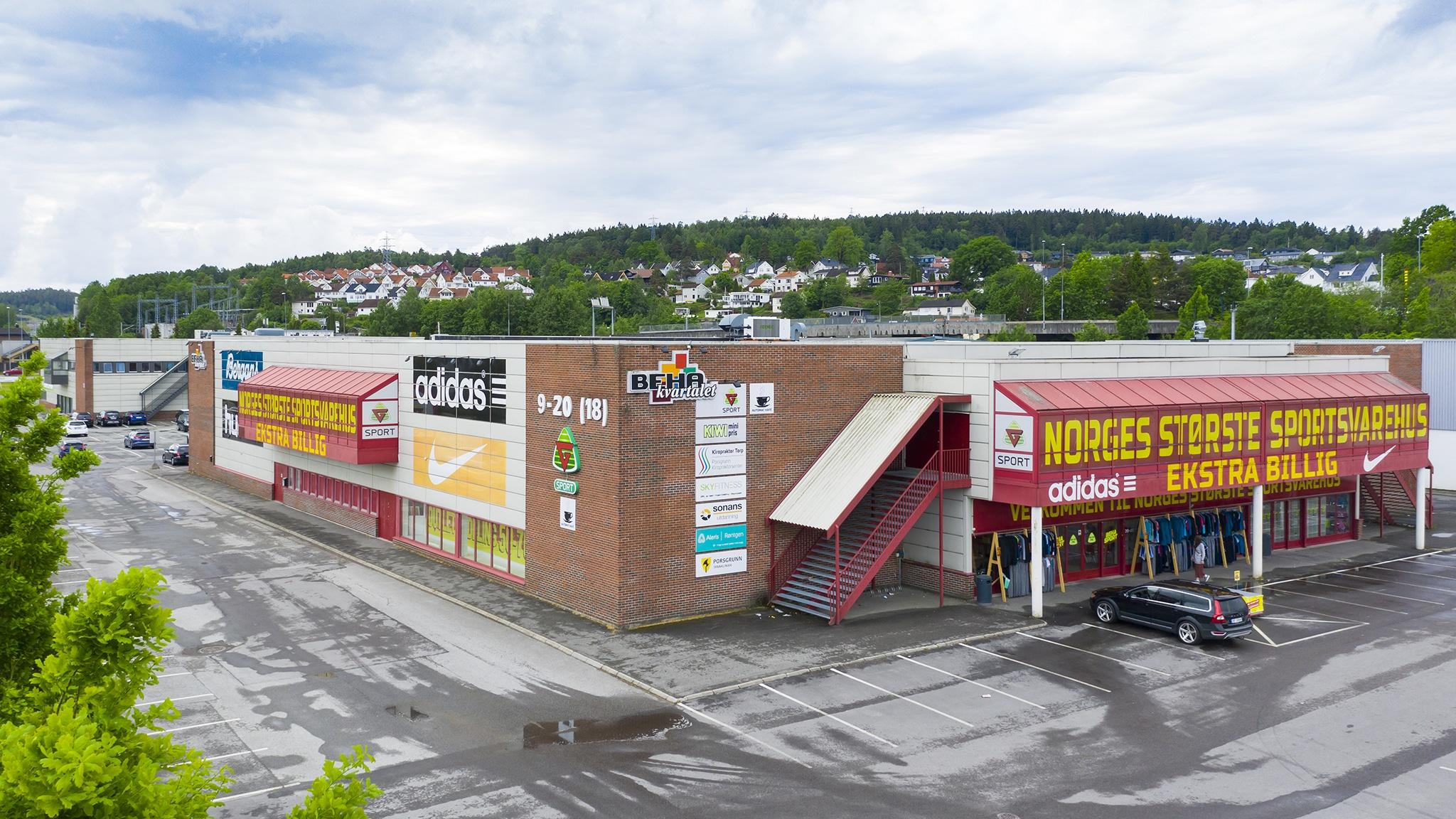 Butikklokale beha kvartalet C E Berg Hanssens gate porsgrunn 5